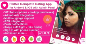 Flutter Complete Dating App for Android & iOS with Admin Panel v1.0.3